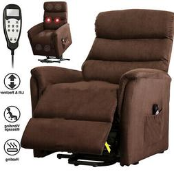 Lift Chair Electric Powered Recliner Sofa Armrest Soft Fabri
