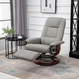 Relaxing and Comfortable Grey Adjustable Recliner Chair w/ E