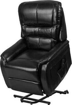 Remote Powered Lift Recliner in Black