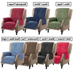 Reversible Quilted Recliner Cover Furniture Lazy Boy Seat Pr