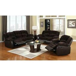 Furniture of America Roberts Fabric Reclining Loveseat with