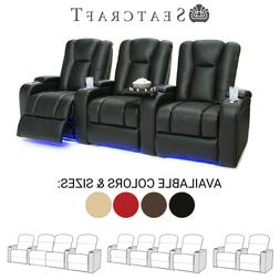 Seatcraft Serenity Leather Home Theater Seating Recliners Se