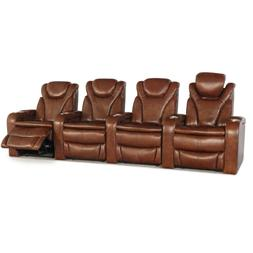 Barcalounger Solaris Brown Leather Home Theater Seating Chai