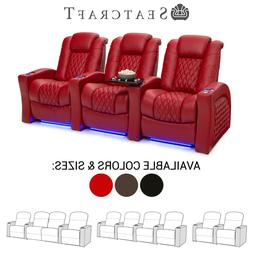 Seatcraft Stanza Leather Home Theater Seating Recliners Seat
