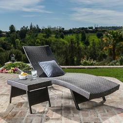 Toscana Outdoor 2-piece Wicker Adjustable Chaise Lounge Set