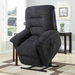 Coaster Home Furnishings Upholstered Power Lift Recliner Gre
