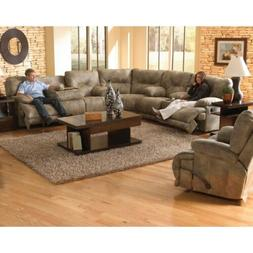 Catnapper Voyager Comfor-gel Sectional 5 Layflat Recliners B