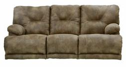 Catnapper - Voyager Power Lay Flat Reclining Sofa in Brandy