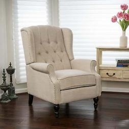 Christopher Knight Home Walter Light Beige Fabric Recliner