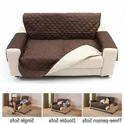 Waterproof Quilted Sofa Covers For Pets Kids Anti-slip Couch