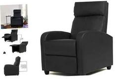 Wingback Recliner Chair Leather Single Modern Sofa Home Thea