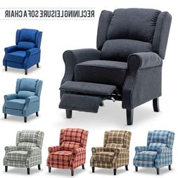 Modern Fabric Accent Recliner Chair Single Sofa Upholstered