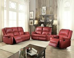 Acme Furniture Zuriel Reclining Sofa and Loveseat Living Roo